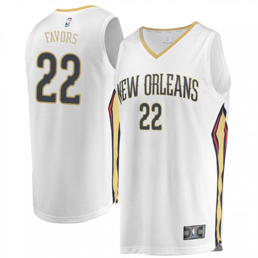 Men's Derrick Favors New Orleans Pelicans Fanatics Branded Swingman White Fast Break Jersey - Association Edition