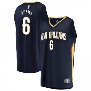 Men's Jalen Adams New Orleans Pelicans Fanatics Branded Swingman Navy Fast Break Jersey - Icon Edition