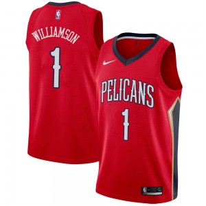 Men's Zion Williamson New Orleans Pelicans Nike Swingman Red Jersey - Statement Edition