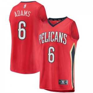 Youth Jalen Adams New Orleans Pelicans Fanatics Branded Swingman Red Fast Break Jersey - Statement Edition