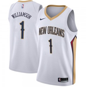 Youth Zion Williamson New Orleans Pelicans Nike Swingman White Jersey - Association Edition